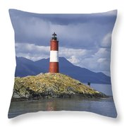 The Lighthouse At The End Of The World Throw Pillow