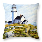 The Lighthouse Keeper Throw Pillow