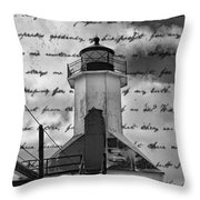 The Lighthouse Poem Throw Pillow