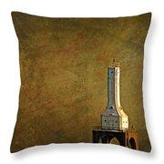 The Lighthouse - Port Washington Throw Pillow
