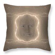 The Lightning Man Sepia Throw Pillow