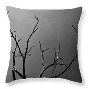 The Lightning Tree Throw Pillow