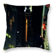The Lights Of New York City Throw Pillow