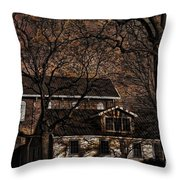 The Lights Went Out In Platte Throw Pillow