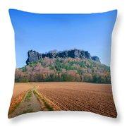 The Lilienstein On An Autumn Morning Throw Pillow