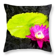 The Lily Pad And Flower... Throw Pillow