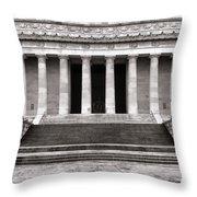The Lincoln Memorial Throw Pillow by Olivier Le Queinec