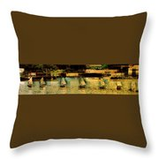 The Line Up Throw Pillow