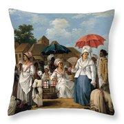 The Linen Market. Santo Domingo Throw Pillow