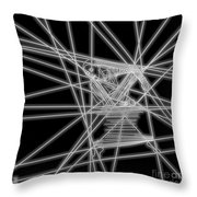 The Lines Of Martha Graham L Bw Throw Pillow