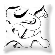The Lion And Horse Throw Pillow