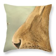 The Lion And The Fly Throw Pillow