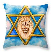 The Lion Of Judah #5 Throw Pillow