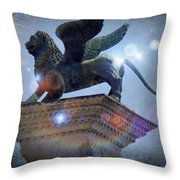 The Lion Of Venice Throw Pillow