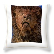 The Lion Poster Throw Pillow