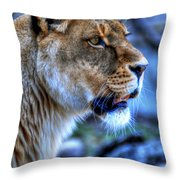 The Lioness Alert Throw Pillow