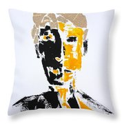 The Literary Man Throw Pillow