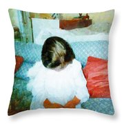The Little Angel  Throw Pillow