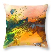 The Little Boy And The Golden Thread Throw Pillow