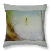 The Little Chapel In The Valley Throw Pillow