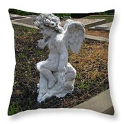 The Little Cherub Throw Pillow