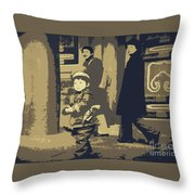 The Little Chinese Soldier Throw Pillow