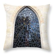 The Little Church Window Throw Pillow