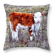 The Little Cow Throw Pillow