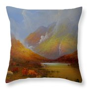 The Little Croft On The Isle Of Skye Scotland Throw Pillow