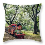 The Little Engine That Could - City Park New Orleans Throw Pillow