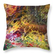 The Little House In The Woods Throw Pillow