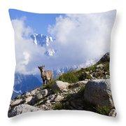 The Little Ibex Throw Pillow
