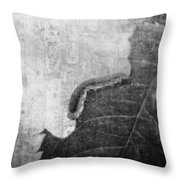 The Little Inchworm - B And W Throw Pillow