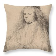 The Little Jewish Bride Throw Pillow