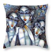 the little mermaids of Andersen Throw Pillow