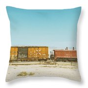 The Little Red Engine Throw Pillow