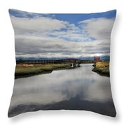 The Little Red Love Shack Throw Pillow by Laurie Search