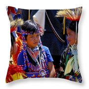 The Little Warriors Throw Pillow