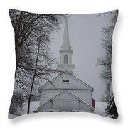 The Little White Church Throw Pillow