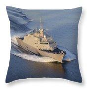 The Littoral Combat Ship Throw Pillow