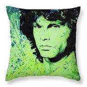 The Lizard King Throw Pillow by Chris Mackie