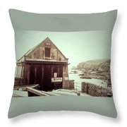 The Lizard Lifeboat Station Polpeor Cove Throw Pillow