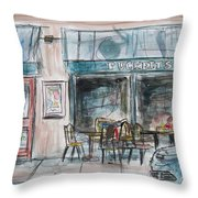 The Local Chat N Chew Throw Pillow by Tim Ross