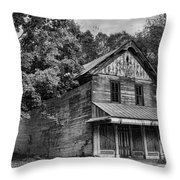 The Local Haunted House Throw Pillow by Heather Applegate