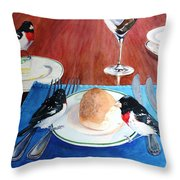 The Local Lunch Crowd Throw Pillow
