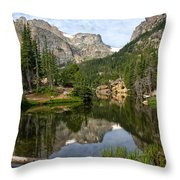 The Loch - Rocky Mountain National Park Throw Pillow