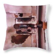 The Lock II Throw Pillow