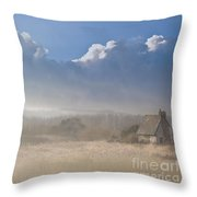 The Lock Keepers Cottage Throw Pillow by Jan Bickerton