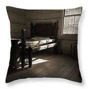 The Log Cabin C.1785 Throw Pillow