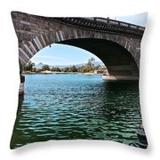The London Bridge Is In Arizona Throw Pillow